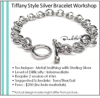 Jewellery Making Course : Tiffany Style Bracelet Workshop
