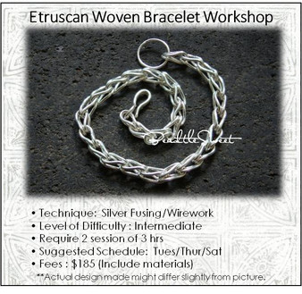 Jewellery Making Course : Etruscan Woven Bracelet Workshop