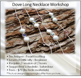 Jewelry Making Course : Dove Long Necklace Workshop