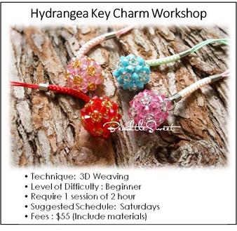 Jewelry Making Course : Hydrangea Key Charm Workshop