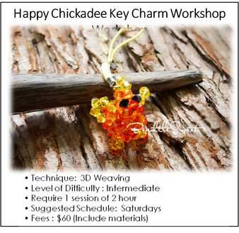 Jewelry Making Course : Happy Chickadee Key Charm Workshop