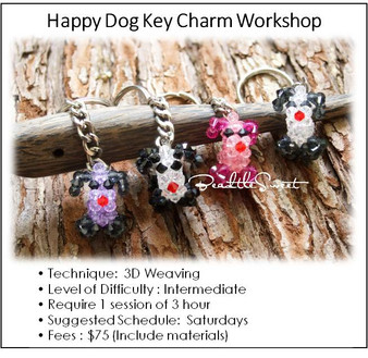 Jewelry Making Course : Happy Dog Key Charm Workshop