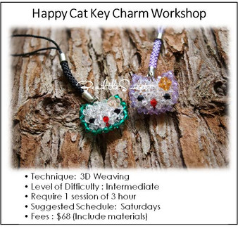 Jewelry Making Course : Happy Cat Key Charm Workshop