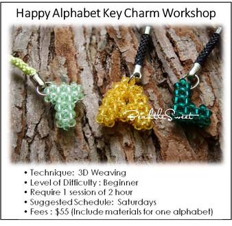 Jewelry Making Course : Happy Alphabet Key Charm Workshop