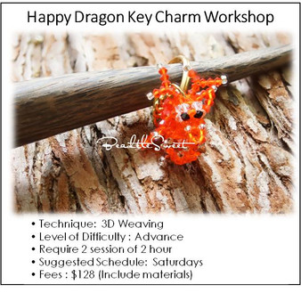 Jewelry Making Course : Happy Dragon Key Charm Workshop