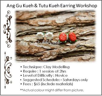 Jewellery Making Course: Ang Gu Kueh & Tutu Kueh Earring Workshop