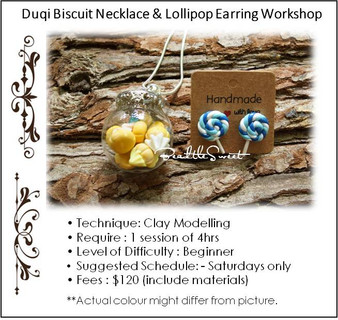 Jewellery Making Course: Duqi Biscuit Necklace & Lollipop Earring Workshop