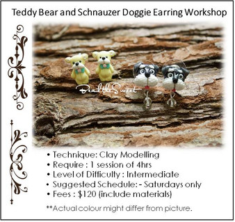 Jewellery Making Course: Teddy Bear and Schnauzer Doggie Earring Workshop