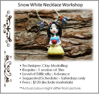 Jewellery Making Course: Snow White Necklace Workshop