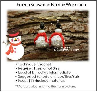 Frozen Snowman Earring Workshop