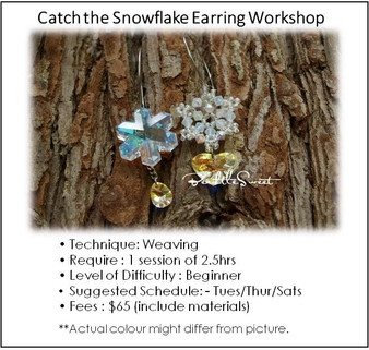 Catch the Snow Flake Earring Workshop