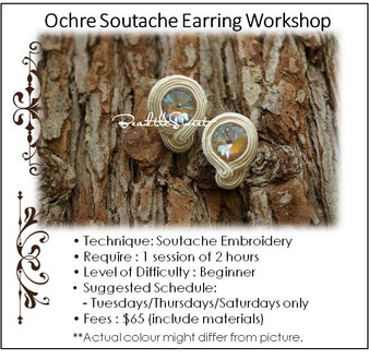 Ochre Soutache Earring Workshop