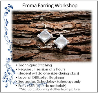 Jewellery Making Workshop : Emma Earring