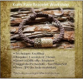 Jewellery Making Course : Kumi Pave Bracelet Course