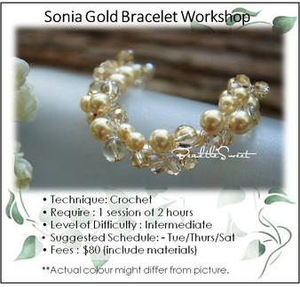 Jewelry Making Course : Sonia Gold Bracelet Workshop
