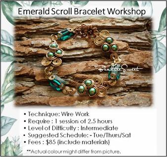 Jewellery Making Course : Emerald Scroll Bracelet Workshop