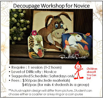 Decoupage Workshop for Novice
