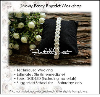 Jewellery Making : Snowy Posey Bracelet Workshop