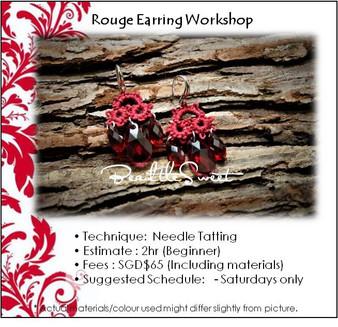 Jewellery Making : Rouge Earring Workshop