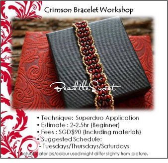 Jewellery Making Course : Crimson Bracelet Workshop