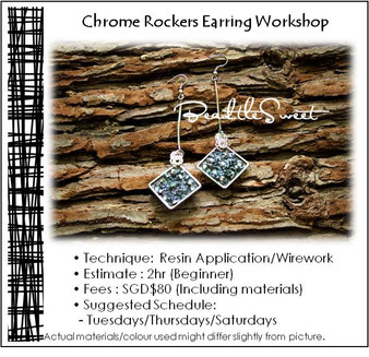 Jewellery Making Course : Chrome Rockers Earring Workshop