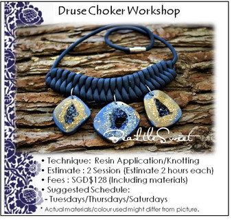 Jewellery Making Course : Druse Choker Workshop