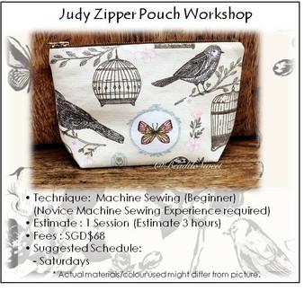 Sew a Travel Zipper Pouch  Workshop
