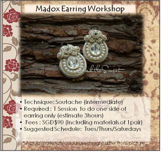Jewellery Making Course : Madox Earring Workshop