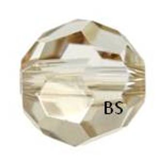 Swarovski 5000 Crystal Golden Shadow Round Bead
