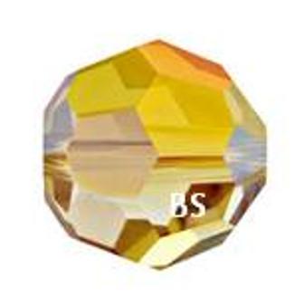 Swarovski 5000 Crystal Metallic Sunshine Round Bead