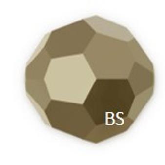 Swarovski 5000 Crystal Metallic Light Gold Round Bead