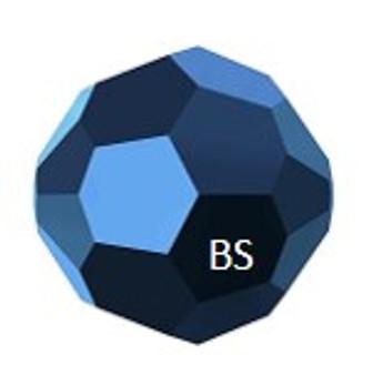 Swarovski 5000 Crystal Metallic Blue Round Bead