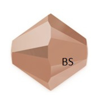 3mm Swarovski 5328 Rose Gold 2X Bicone Bead