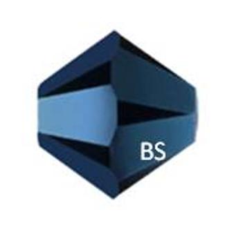 5mm Swarovski 5328 Metallic Blue 2X Bicone Bead