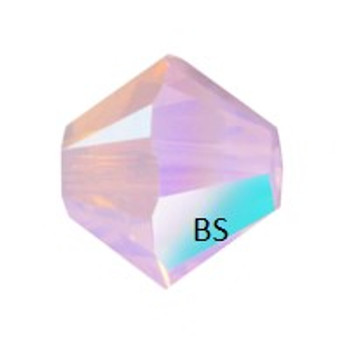3mm Swarovski 5328 Rose Water Opal Shimmer Bicone Bead