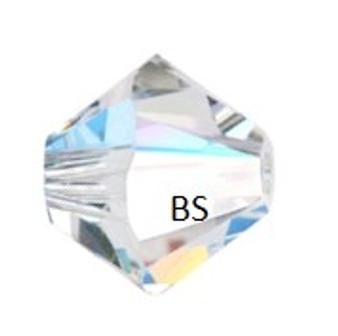 3mm Swarovski 5328 Crystal Shimmer 2X Bicone Bead