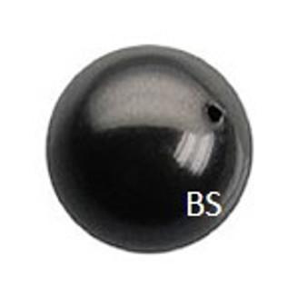 4mm Swarovski 5810 Mystic Black Pearls