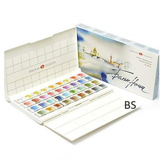 St Petersburg White Nights Watercolours 36 colours Pan Set