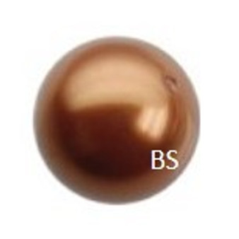 6mm Swarovski 5810 Copper Pearls