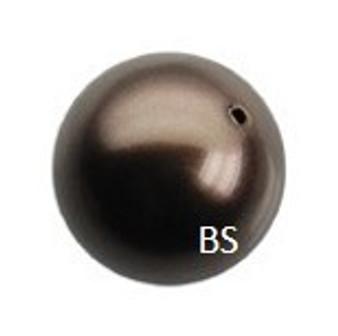 6mm Swarovski 5810 Deep Brown Pearls