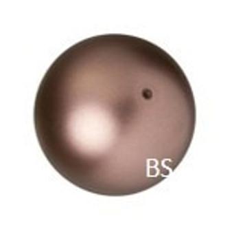 10mm Swarovski 5810 Velvet Brown Pearls