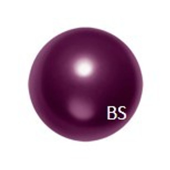 10mm Swarovski 5811 Blackberry Large Hole Pearls