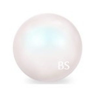14mm Swarovski 5811 Pearlescent White Large Hole Pearls