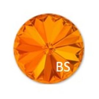 12mm Swarovski 1122 Tangerine Rivoli