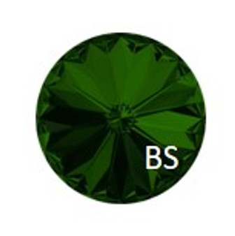 12mm Swarovski 1122 Dark Moss Green Rivoli
