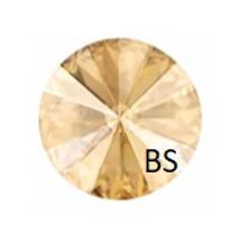 14mm Swarovski 1122 Crystal Golden Shadow Pink Rivoli