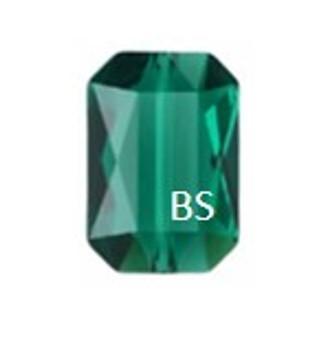 Swarovski 5515 Emerald Emerald-Cut Bead 14x9.5mm