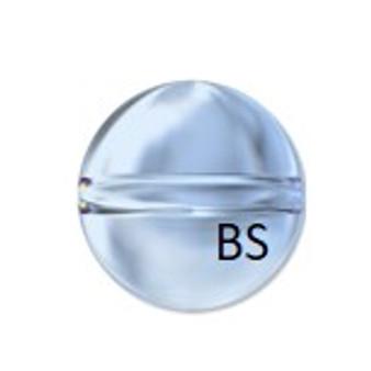 Swarovski 5028/4 Globe Bead Crystal Blue Shade 6mm
