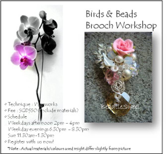 Birds and Beads Brooch Workshop