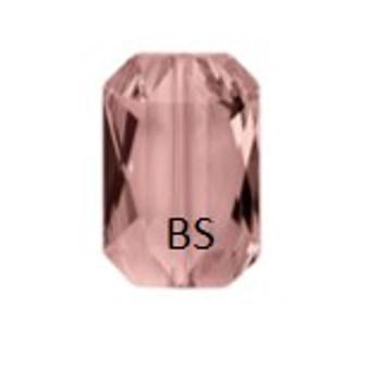 Swarovski 5515 Blush Rose Emerald-Cut Bead 14x9.5mm